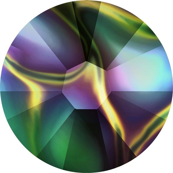 Swarovski 2058 XILION Rose Flat Back Crystal Rainbow Dark SS7