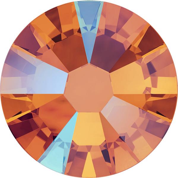 Swarovski 2058 XILION Rose Flat Back Tangerine Shimmer SS9