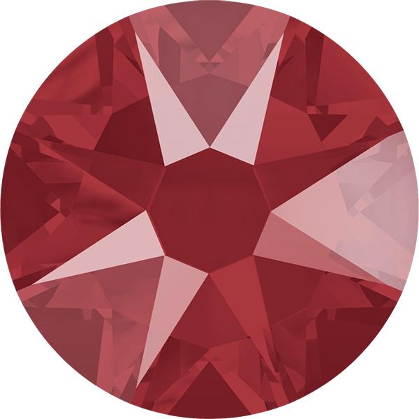 Swarovski 2088 XIRIUS Rose Flat Back Crystal Royal Red SS12