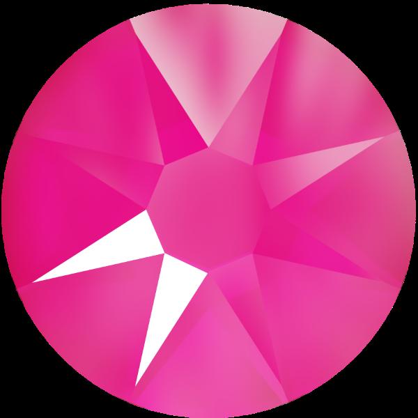 Swarovski 2088 XIRIUS Rose Flat Back Crystal Electric Pink SS20