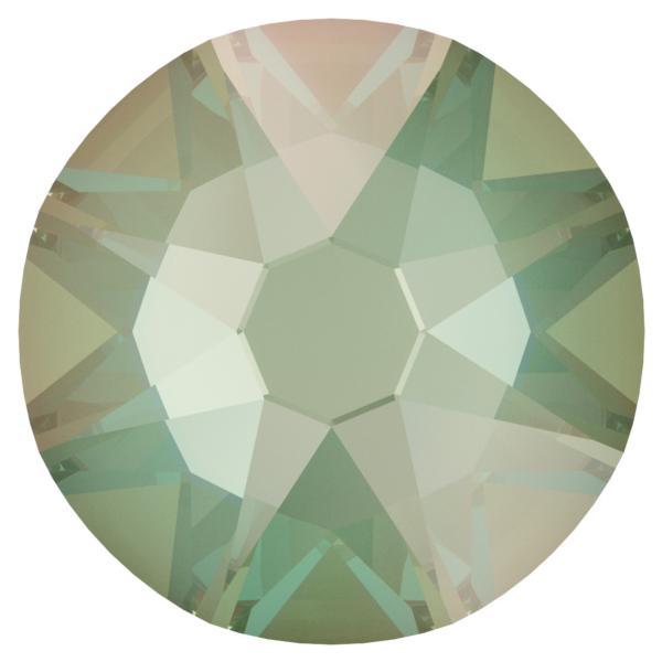 Swarovski 2088 XIRIUS Rose Flat Back Crystal Silky Sage DeLite SS12