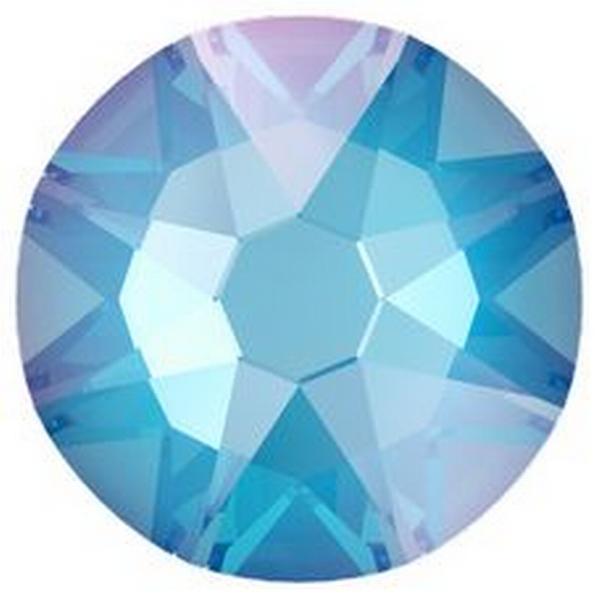 Swarovski 2088 XIRIUS Rose Flat Back Crystal Electric Blue DeLite ss30