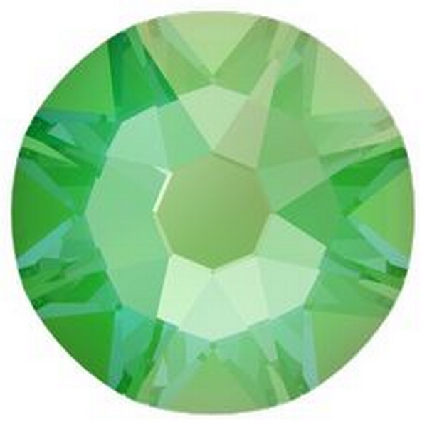 Swarovski 2088 XIRIUS Rose Flat Back Crystal Electric Green DeLite ss30