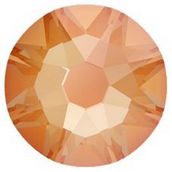 Swarovski 2088 XIRIUS Rose Flat Back Crystal Electric Orange DeLite ss12