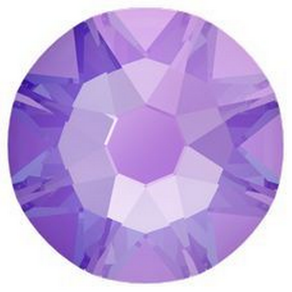 Swarovski 2088 XIRIUS Rose Flat Back Crystal Electric Violet DeLite ss20