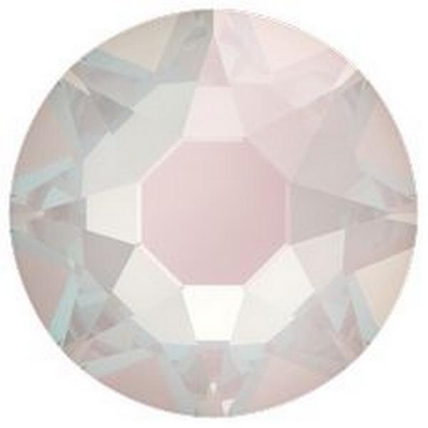 Swarovski 2088 XIRIUS Rose Flat Back Crystal Electric White DeLite ss16