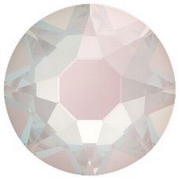 Swarovski 2088 XIRIUS Rose Flat Back Crystal Electric White DeLite ss20