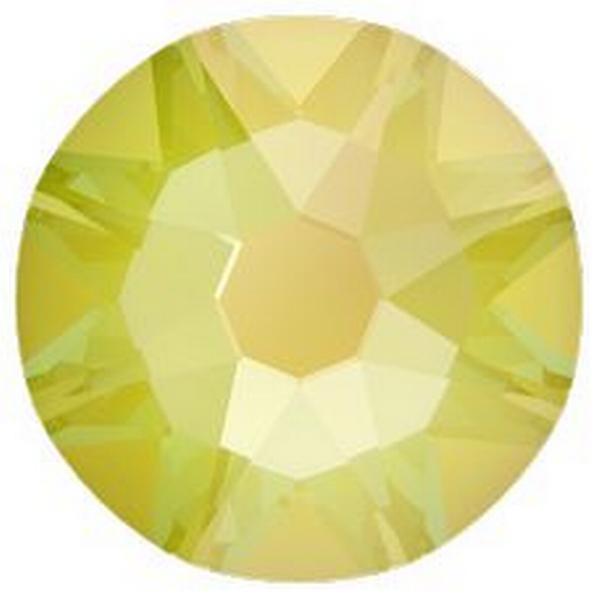 Swarovski 2088 XIRIUS Rose Flat Back Crystal Electric Yellow DeLite ss12