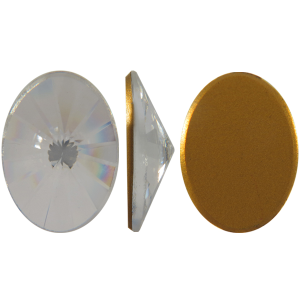 Swarovski 2102 Vintage Rivoli Oval Flat Back Crystal 10x8mm