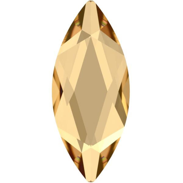 Swarovski 2201 Marquise (Navette) Flat Back Crystal Golden Shadow 14x6mm