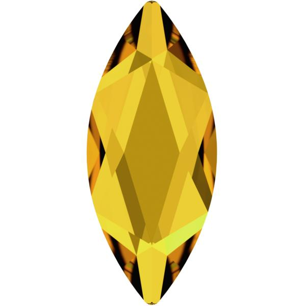 Swarovski 2201 Marquise (Navette) Flat Back Sunflower 14x6mm