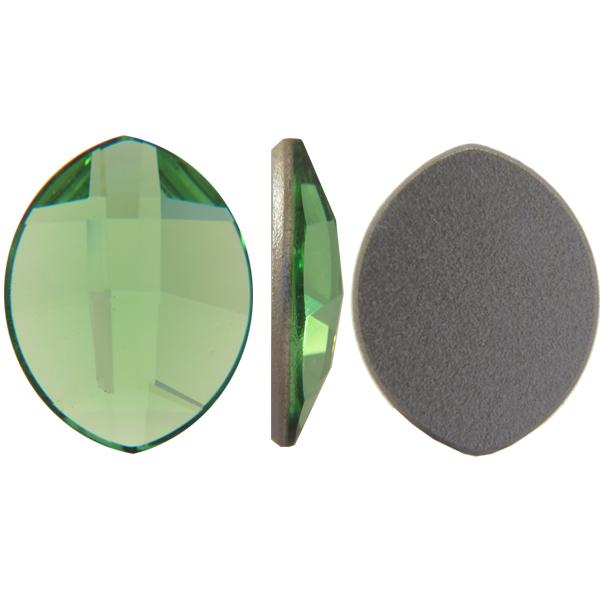 Swarovski 2204 Pure Leaf Flat Back Peridot 14x11mm