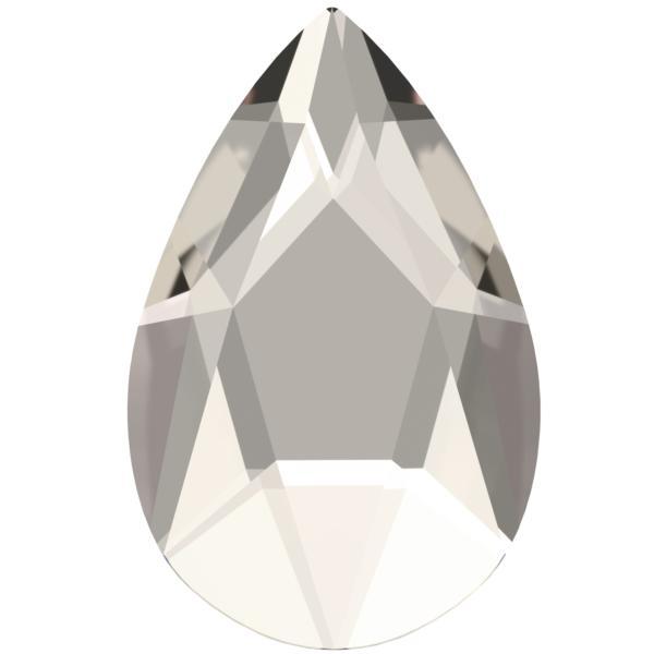 Swarovski 2303 Pear Shaped Hotfix Crystal Silver Shade 14x9mm