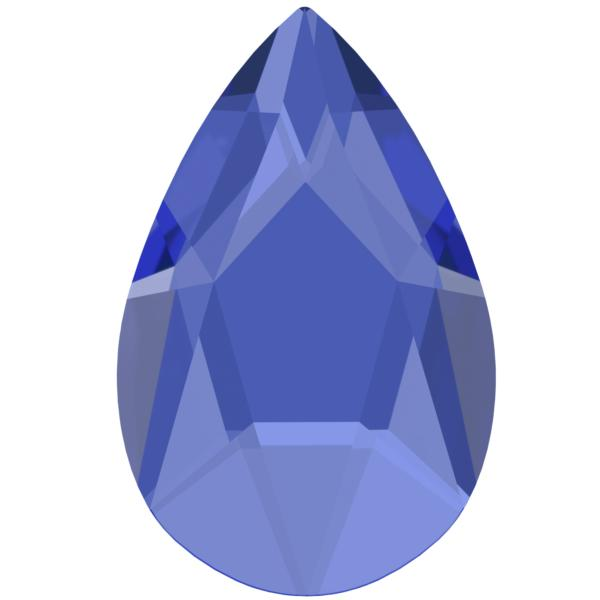 Swarovski 2303 Pear Shaped Flat Back Sapphire 14x9mm