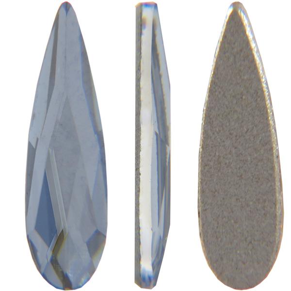 Swarovski 2304 Raindrop Flat Back Crystal Blue Shade 6x1.7mm