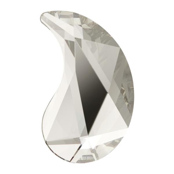 Swarovski 2365 Paisley Flat Backs Y Crystal Silver Shade 6x3.7mm