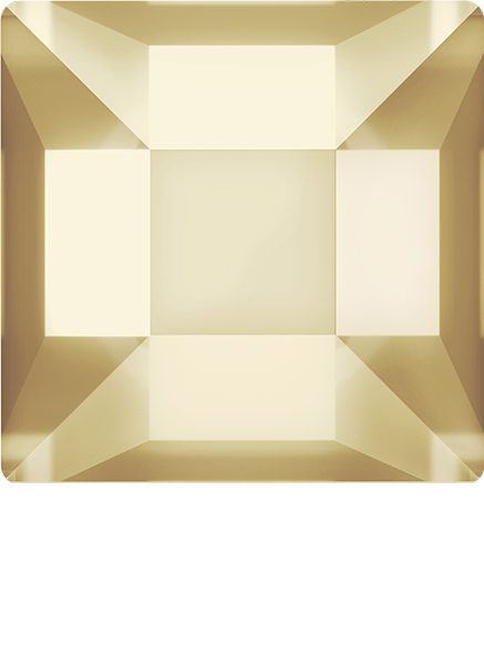 Dreamtime Crystal 2400 Square Flat Back Crystal Golden Shadow 6mm