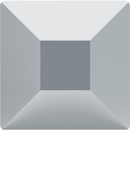 Dreamtime Crystal 2400 Square Flat Back Crystal Light Chrome 6mm