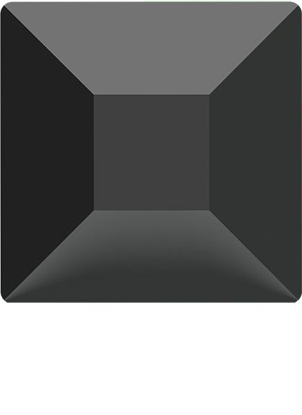 Dreamtime Crystal 2400 Square Flat Back Jet 6mm