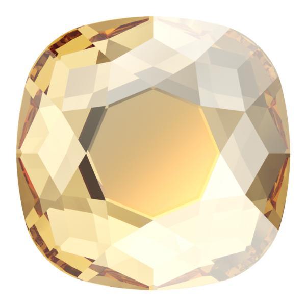 Swarovski 2471 Cushion Cut Square Flatback Crystal Golden Shadow 10mm