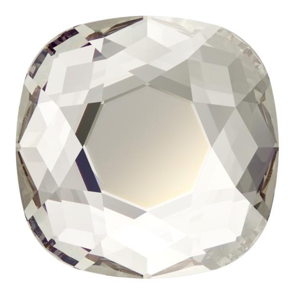 Swarovski 2471 Cushion Cut Square Flatback Crystal Silver Shade 10mm