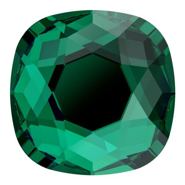 Swarovski 2471 Cushion Cut Square Flatback Emerald 10mm