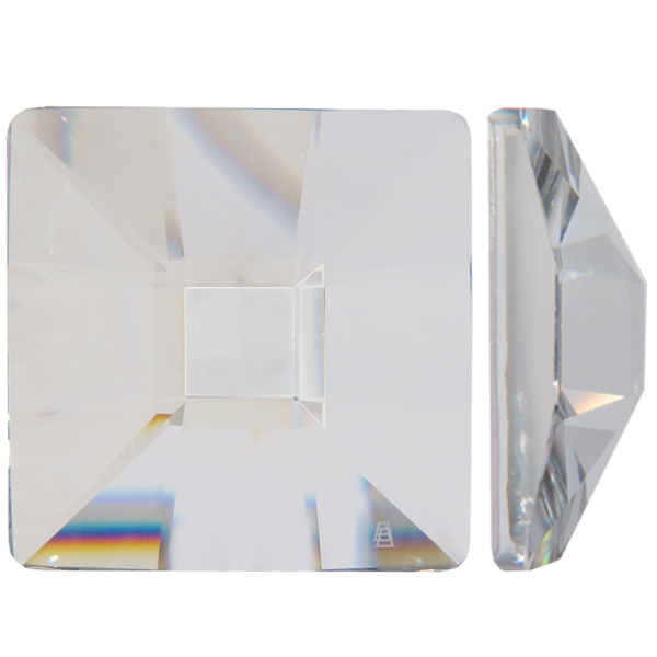 "Swarovski 2483 Classic Square Flat Back Crystal Comet Argent Light ""SI"" 25mm"
