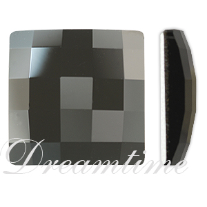 Swarovski 2493 Chessboard Flat Back Jet 10mm