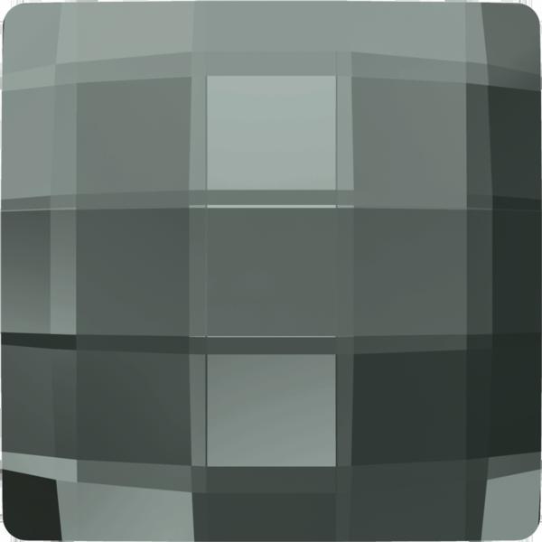 Swarovski 2493 Chessboard Flat Back Black Diamond 12mm
