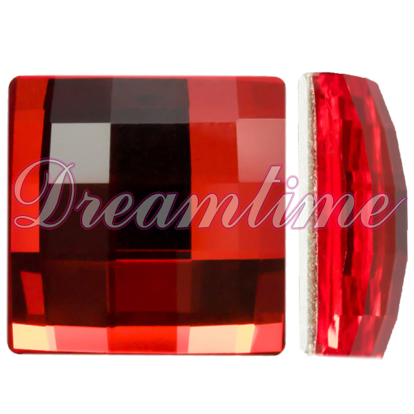 Swarovski 2493 Chessboard Flat Back Light Siam 12mm