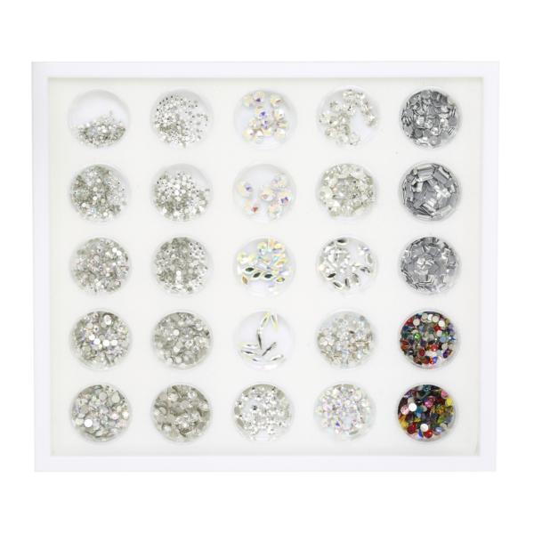 Swarovski Crystals Nail Art Starter Kit - Tray with 25 Jars ...