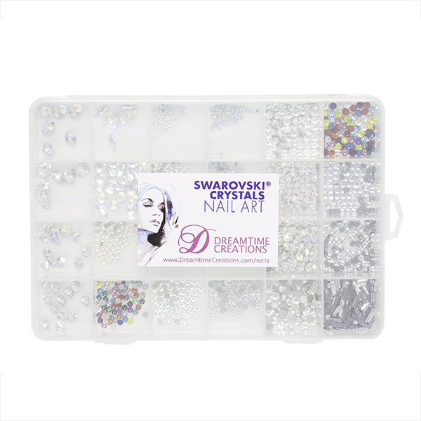 Swarovski Crystals Nail Art Starter Kit - 24 Compartments ...