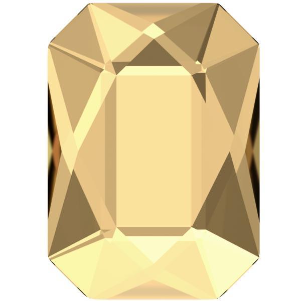Swarovski 2602 Emerald Cut Hotfix Crystal Golden Shadow 14x10mm