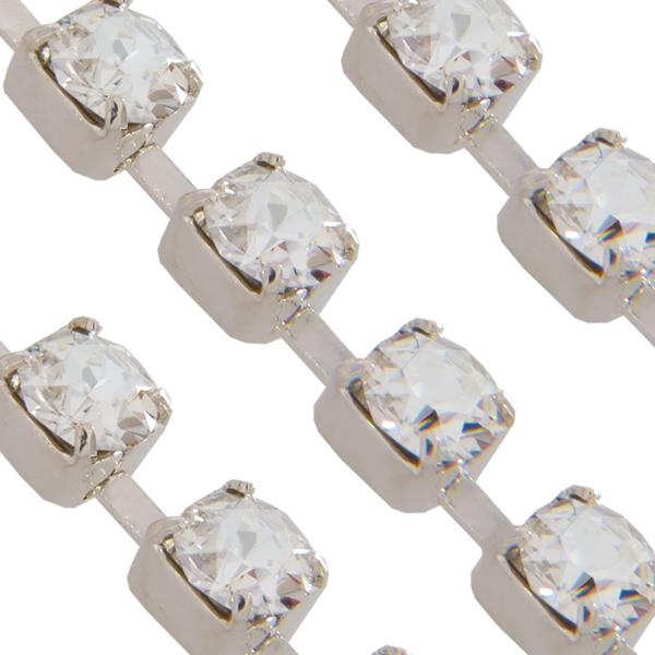 Swarovski 27104 Rhinestone Chain ss17 (pp32) Crystal/Silver (Rhodium)