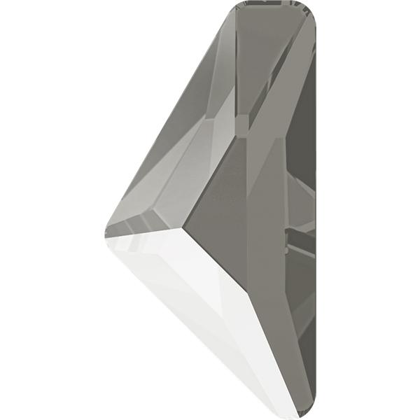 Swarovski 2738 Triangle Alpha Flat Back Crystal Dark Grey 10x5mm