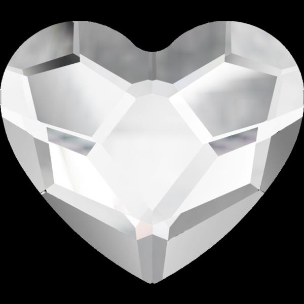 Swarovski 2808 Heart Hotfix Crystal 3.6mm