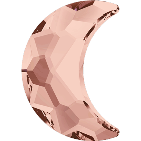 Swarovski 2813 Moon Flat Back Blush Rose 10x7mm