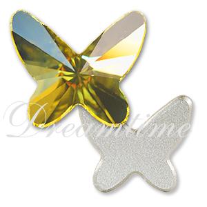 Swarovski 2854 Butterfly Flat Back Jonquil 8mm