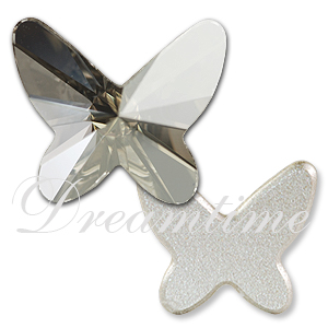 Swarovski 2854 Butterfly Flat Back Crystal Silver Shade 12mm