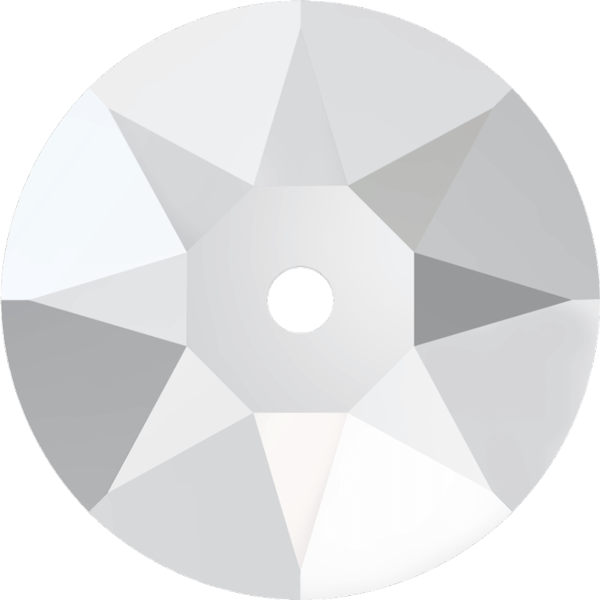 Swarovski 3188 Xirius Lochrose Crystal Unfoiled 5mm