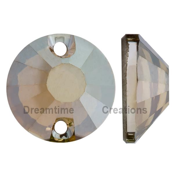 Swarovski 3204 Round Sew-on Crystal Bronze Shade 8mm
