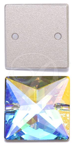 Swarovski 3240 Square Sew-on Crystal AB 16mm