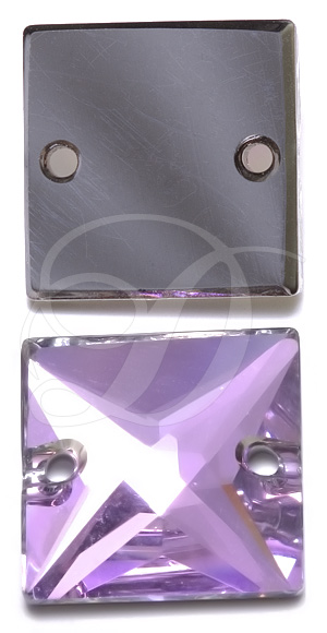Swarovski 3240 Square Sew-on Crystal Vitrail Light 22mm