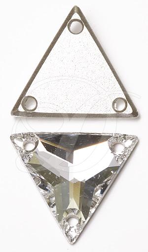 Swarovski 3270 Triangle Sew-on Crystal 22mm