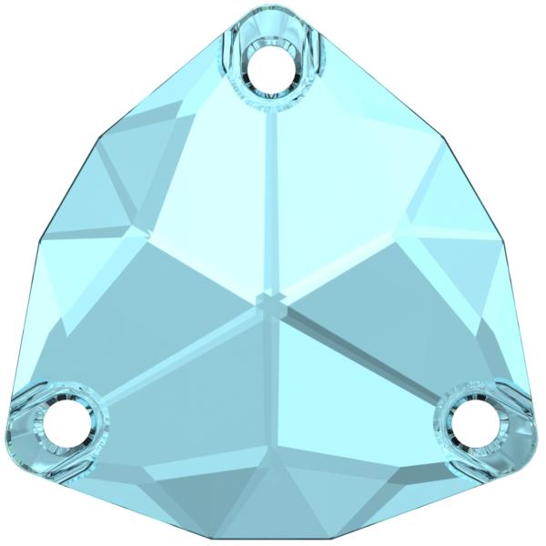 Swarovski 3272 Trilliant Sew-on Aquamarine 20mm