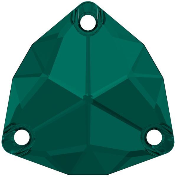 Swarovski 3272 Trilliant Sew-on Emerald 20mm