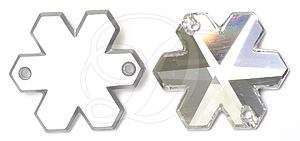 Swarovski 3280 Snowflake Sew-on Crystal 20mm