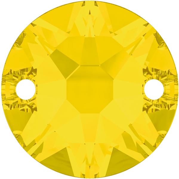 Swarovski 3288 Xirius Sew-on Yellow Opal 8mm