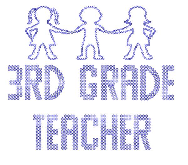 Iron On Transfer - THIRD GRADE TEACHER