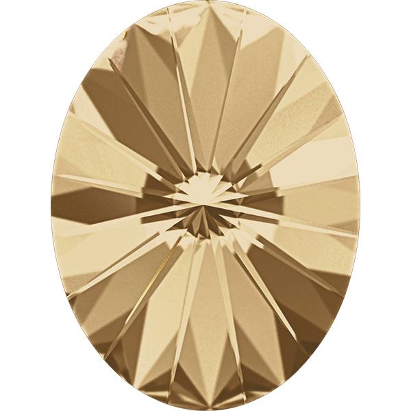 Swarovski 4122 Oval Rivoli Fancy Stone Crystal Golden Shadow 8x6mm